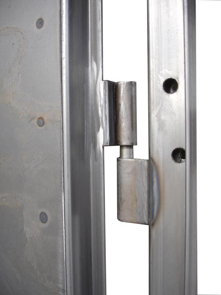 2 bisagras de acero soldadas - Bisagras puertas metalicas ...
